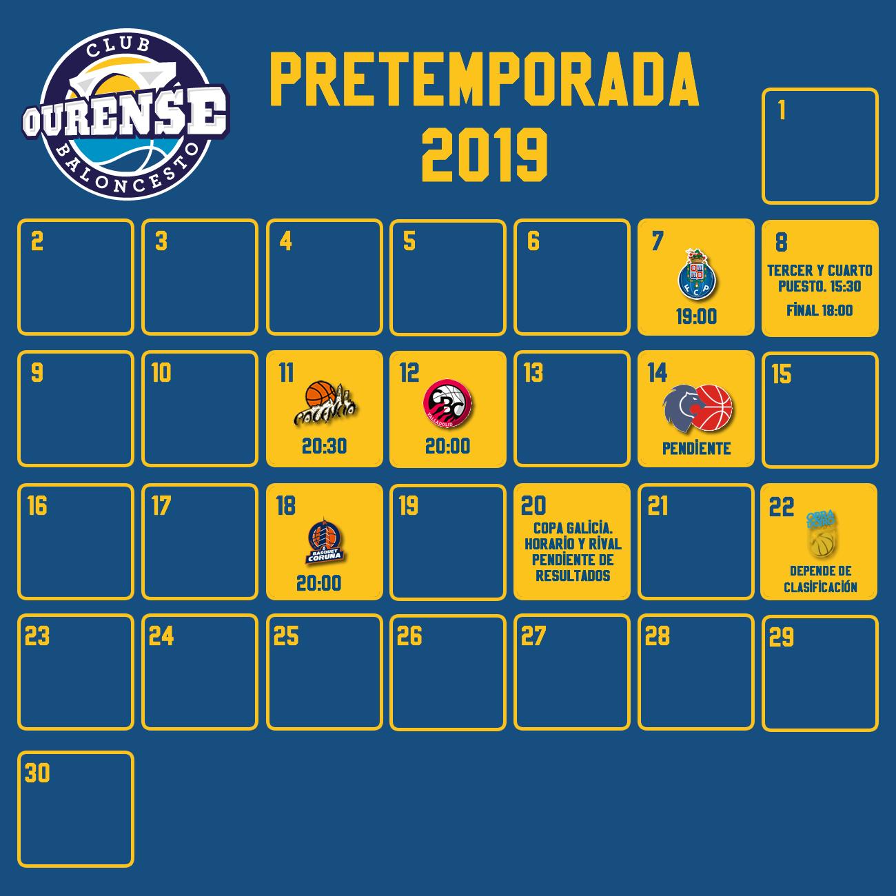 Leb Oro Calendario.Actualizado Calendario De Partidos De Pretemporada Del Club Ourense